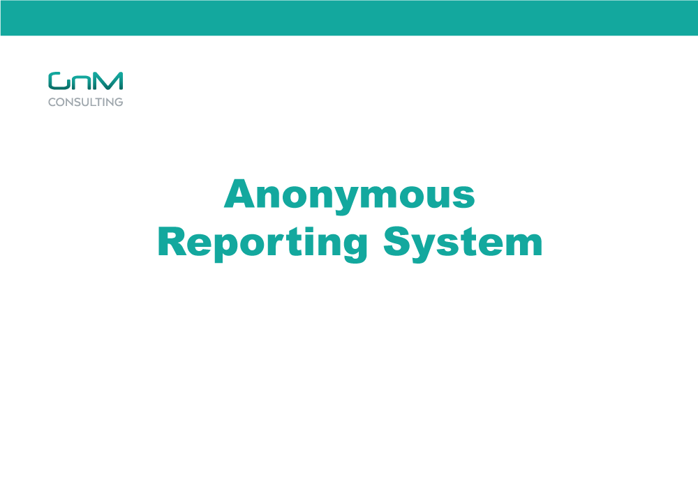 Anonymous Complaint Reporting System