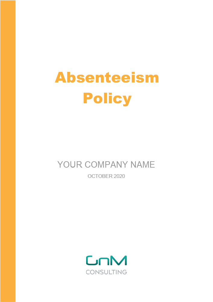 Absenteeism Policy
