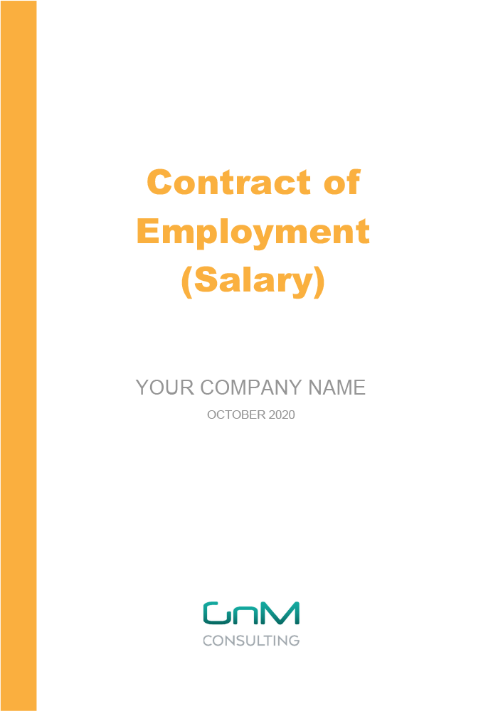 Contract of Employment (Salary)