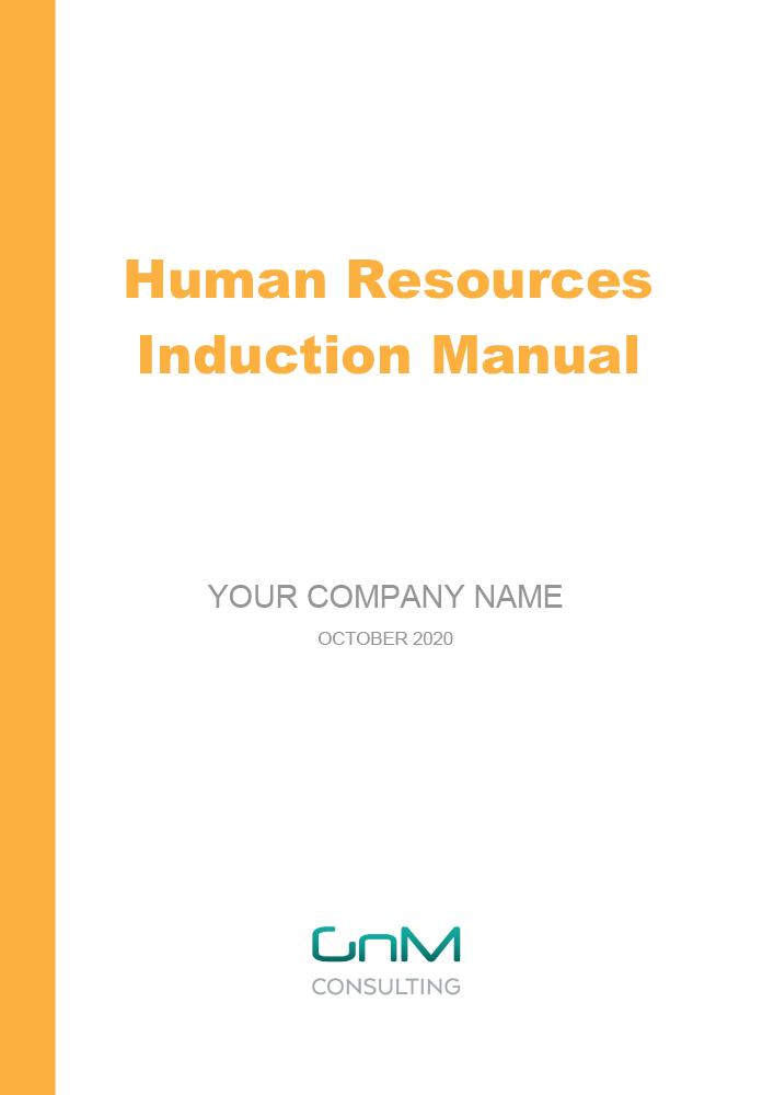 Human Resources Induction Manual (Staff Handbook)